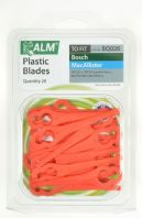 ALM Plastic Blades - Red - Pack of 20